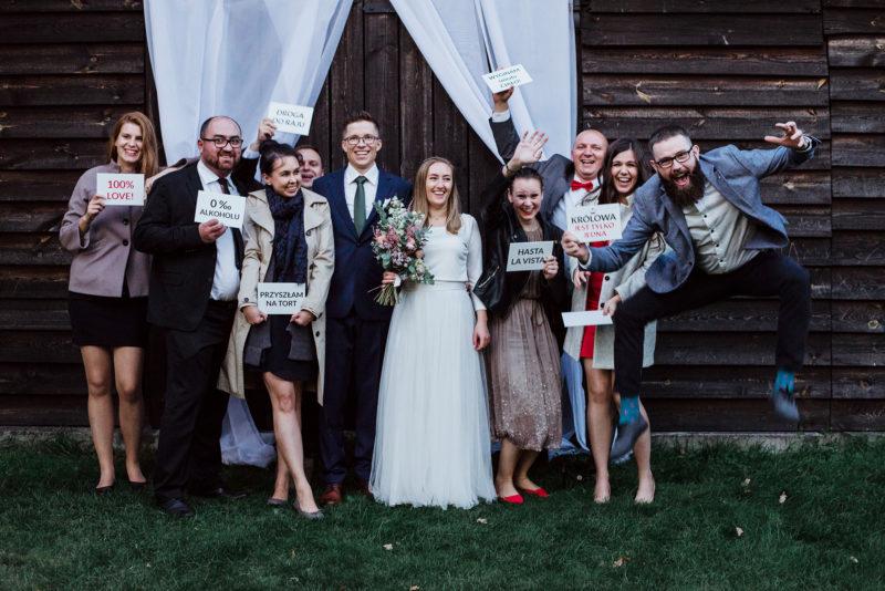wesele - spichlerz galowice - szalone zdjecie grupowe