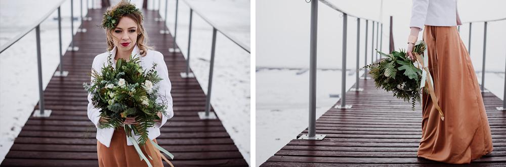 naturalna zimowa sesja plenerowa-suknia slubna w kolorze miedzi 7925+7849