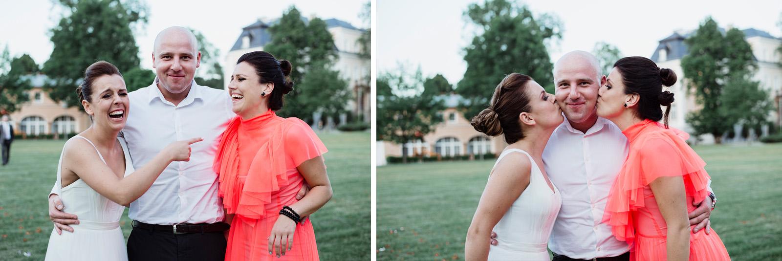 naturalna fotografia slubna z wesela w krzyzowej