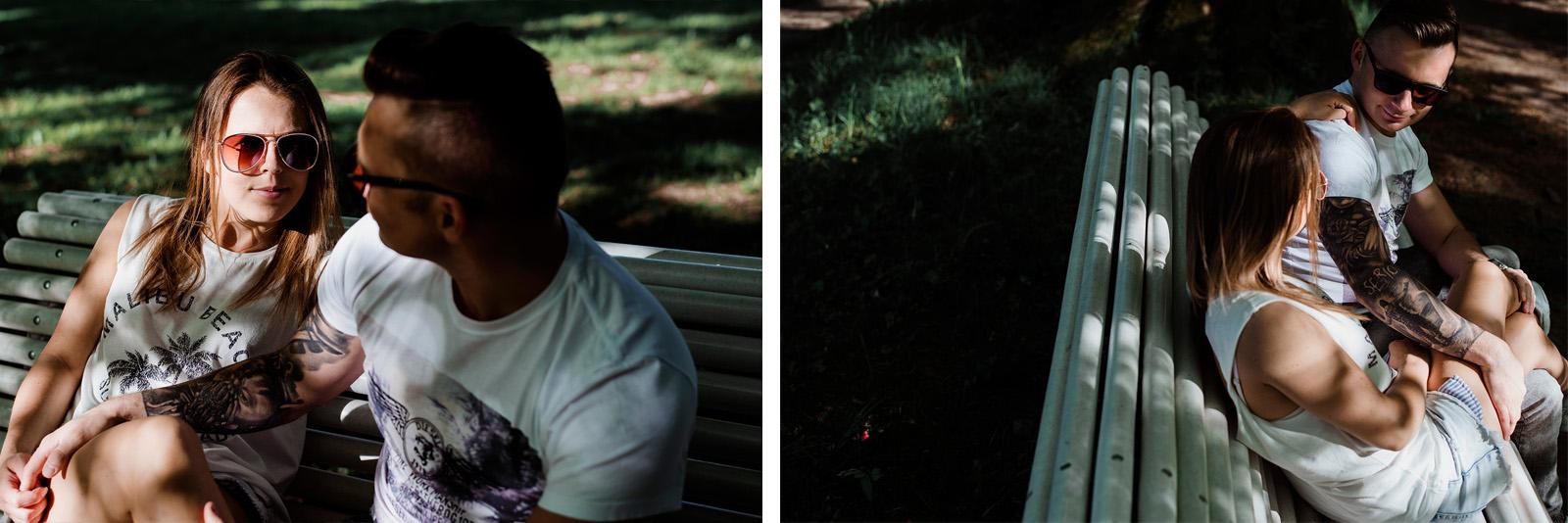 piekna sesja narzeczenska w parku ksiazanskim