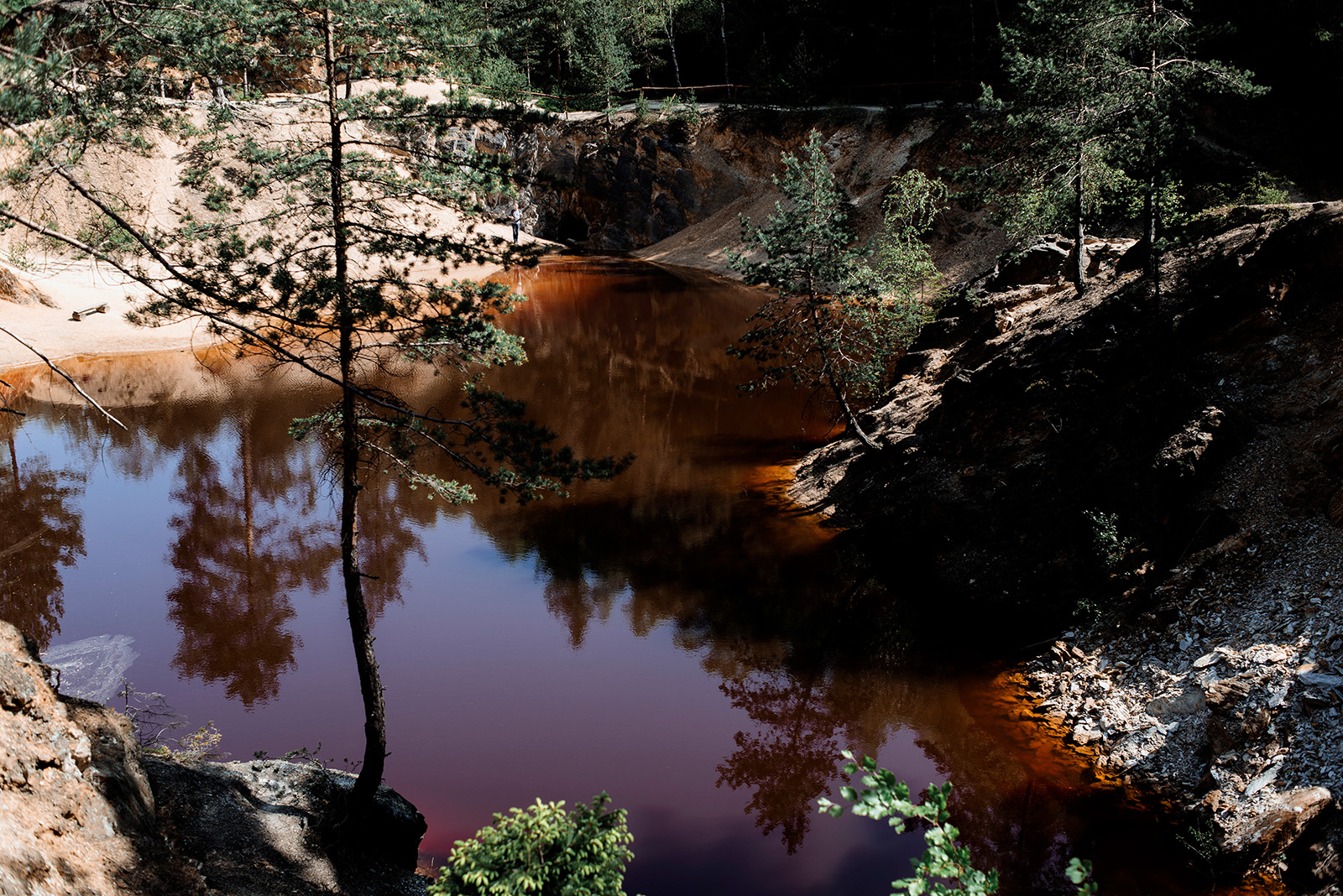 brunatne jeziorko - sesja narzeczenska