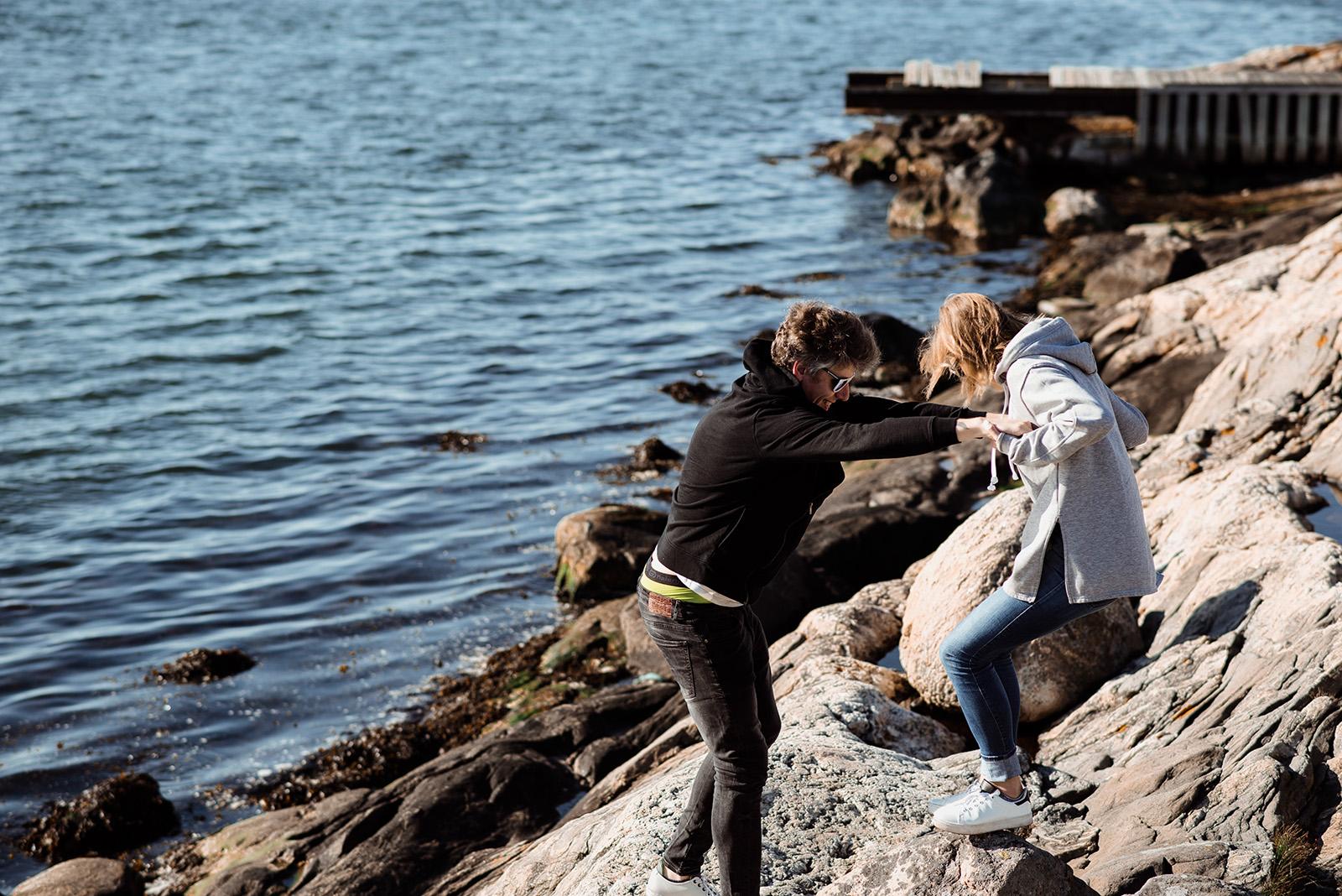sesja narzeczenska nad morzem-sesja w Szwecji