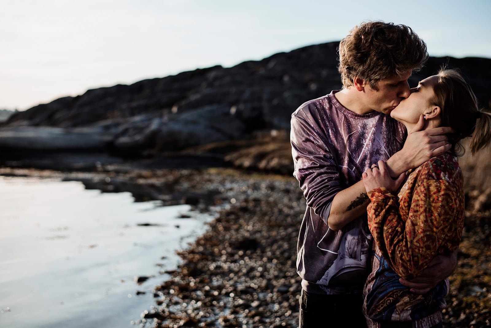 sesja narzeczenska nad morzem w szwecji