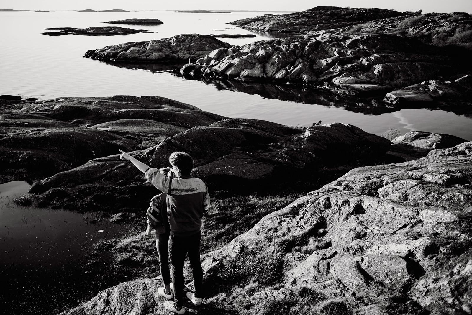 piekna sesja narzeczenska w szwecji
