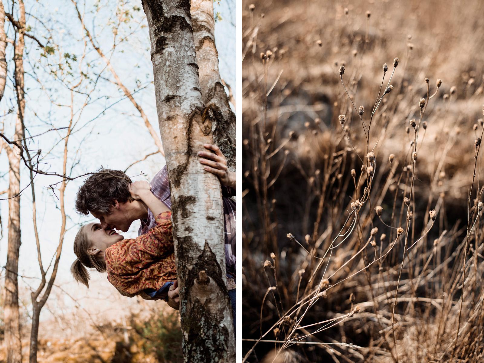 sesja narzeczenska w lesie-naturalna fotografia