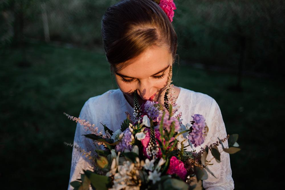 panna mloda - wesele w ogrodzie