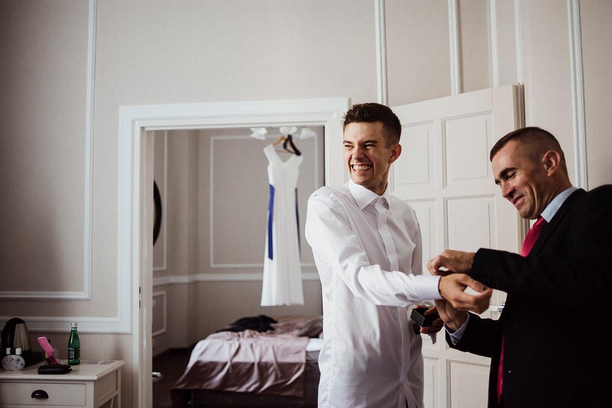 wesele w hotelu wodnik we wroclawiu - przygotowania pana mlodego