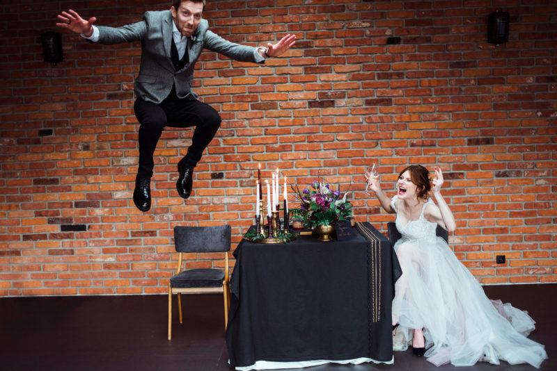 slub w stylu industrialnym - wesele w restauracji warsztat wroclaw