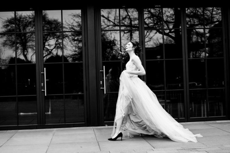 tiulowa suknia sylwii kopczynskiej - slub w restauracji warsztat wroclaw