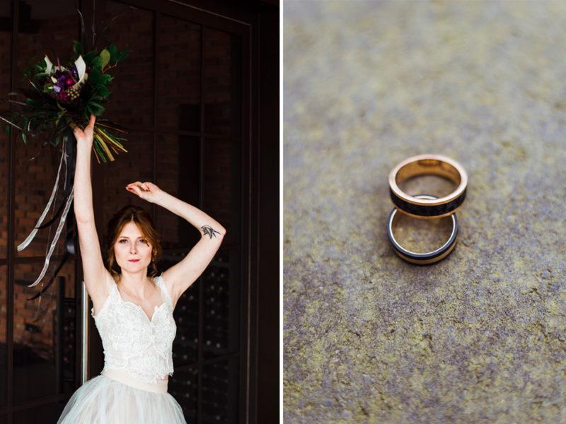 wesele w restauracji warsztat wroclaw - czarne obraczki